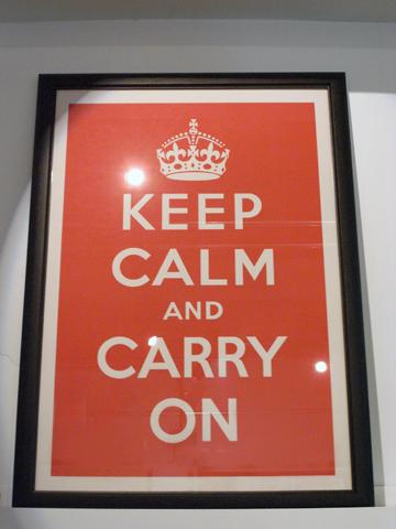 部屋をおしゃれに!マンションで海外インテリア-keep calm1
