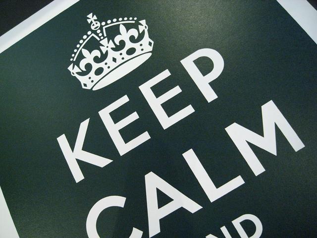 部屋をおしゃれに!マンションで海外インテリア-keep calm3