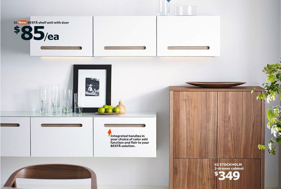 BESTA shelf unit with door