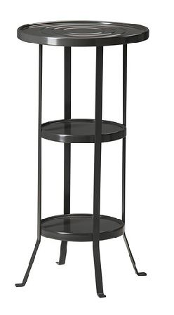 GUNNERN Pedestal table black